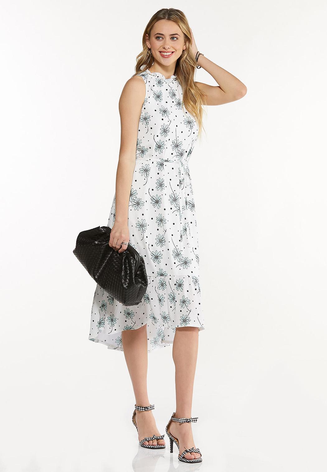 Dotted Daisy Midi Dress (Item #44534711)