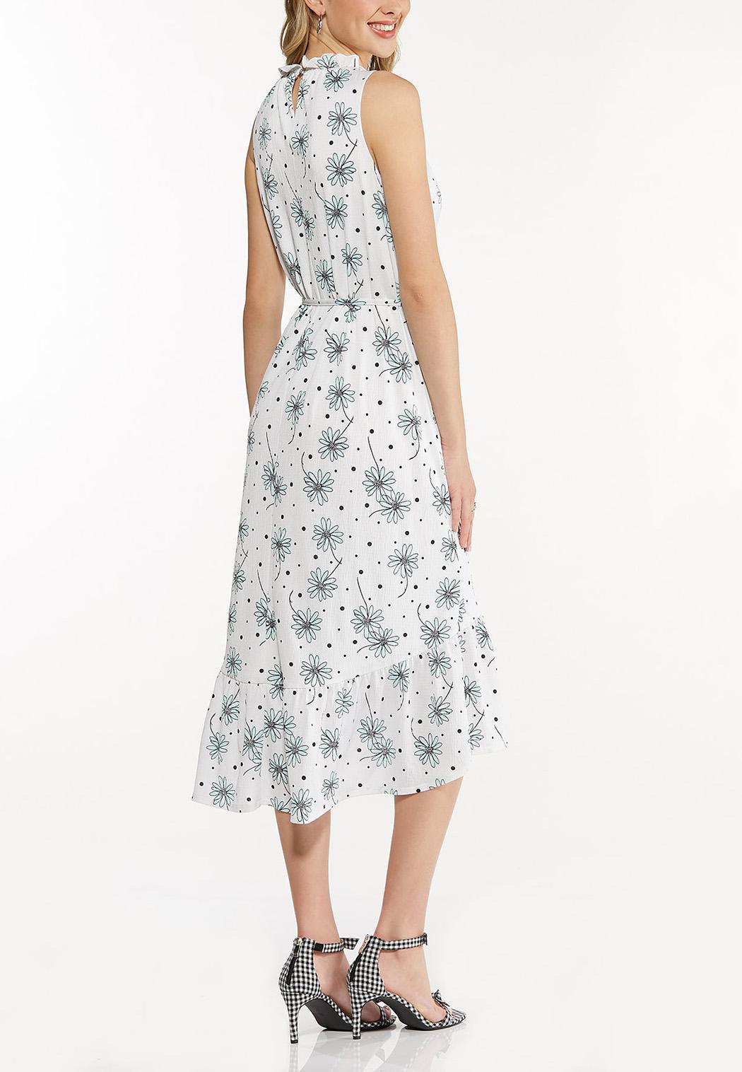 Plus Size Dotted Daisy Midi Dress (Item #44534721)