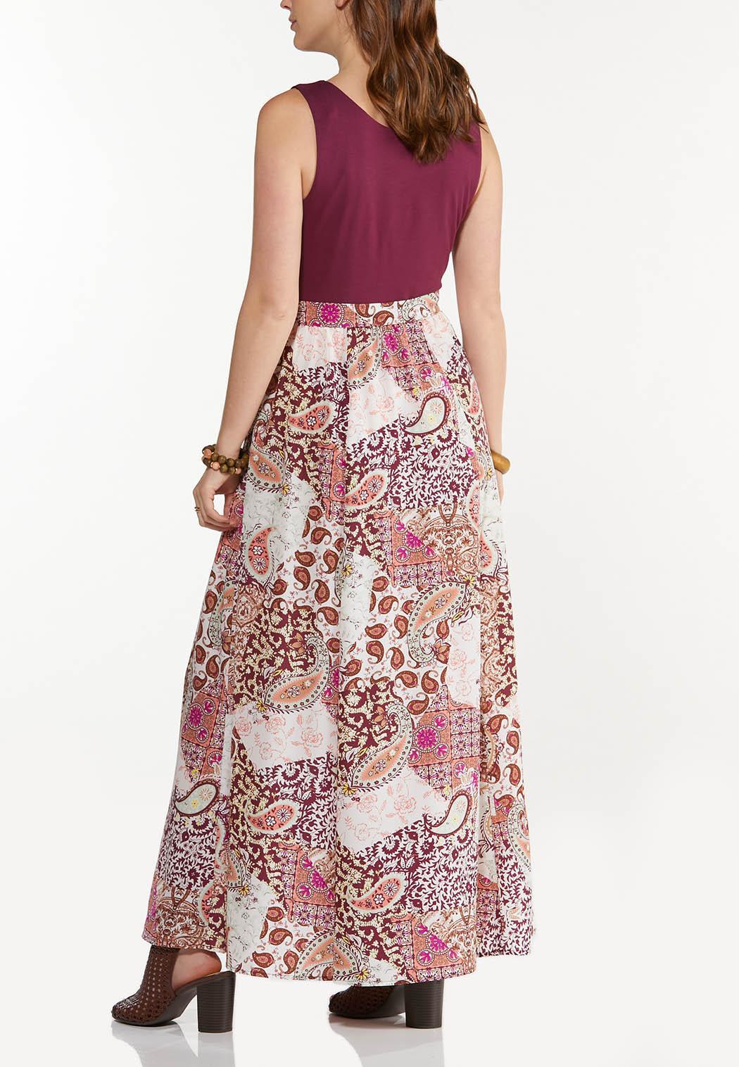 Plus Petite Patchwork Paisley Maxi Dress (Item #44534785)