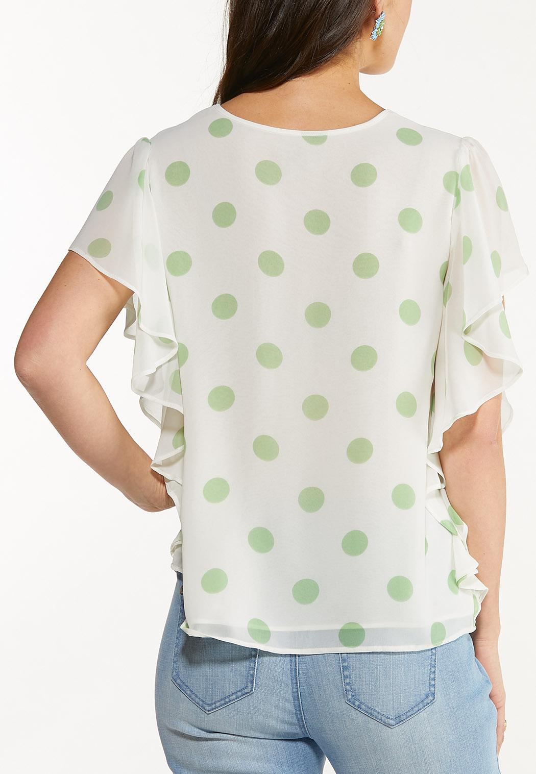 Ruffled Polka Dot Top (Item #44535819)