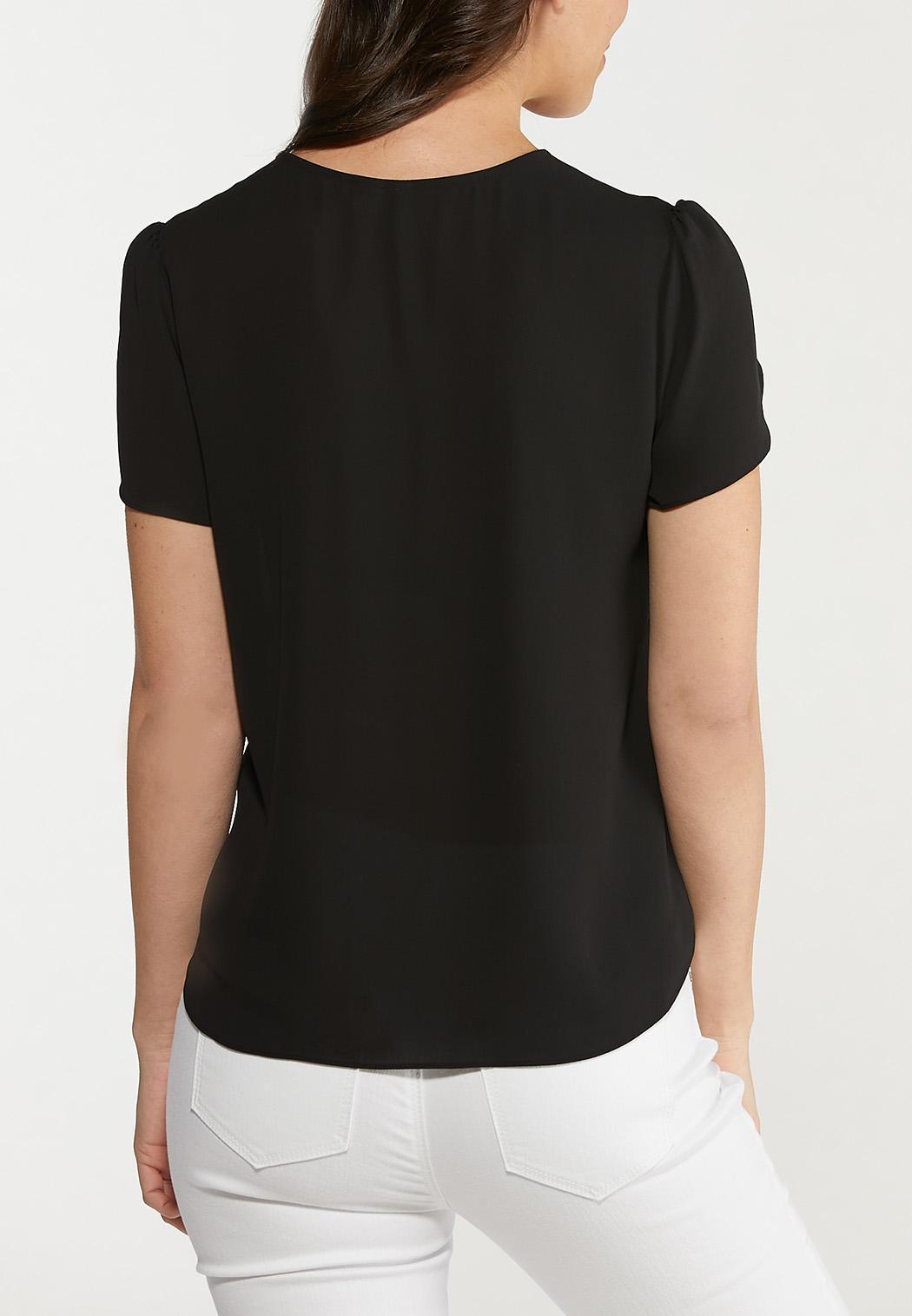 Plus Size Tulip Sleeve Top (Item #44536990)