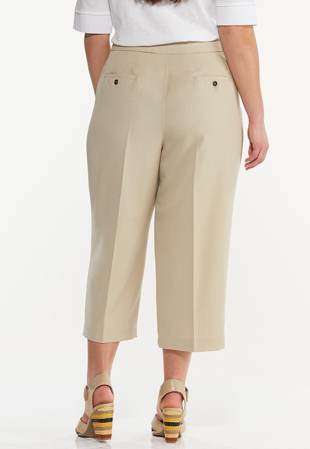 Plus Size Cropped Trouser Pants (Item #44537235)