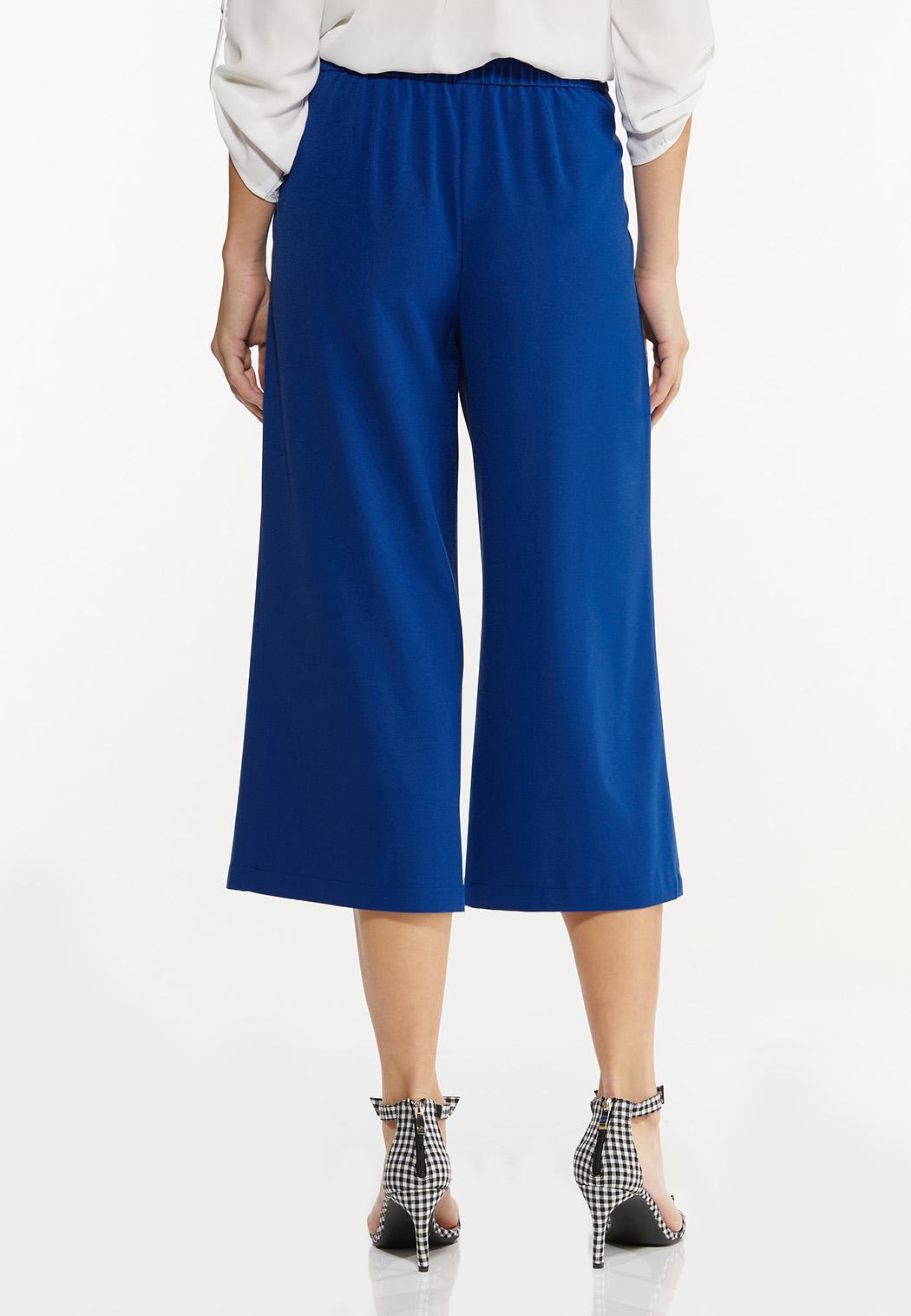 Cropped Tie Waist Pants (Item #44537655)