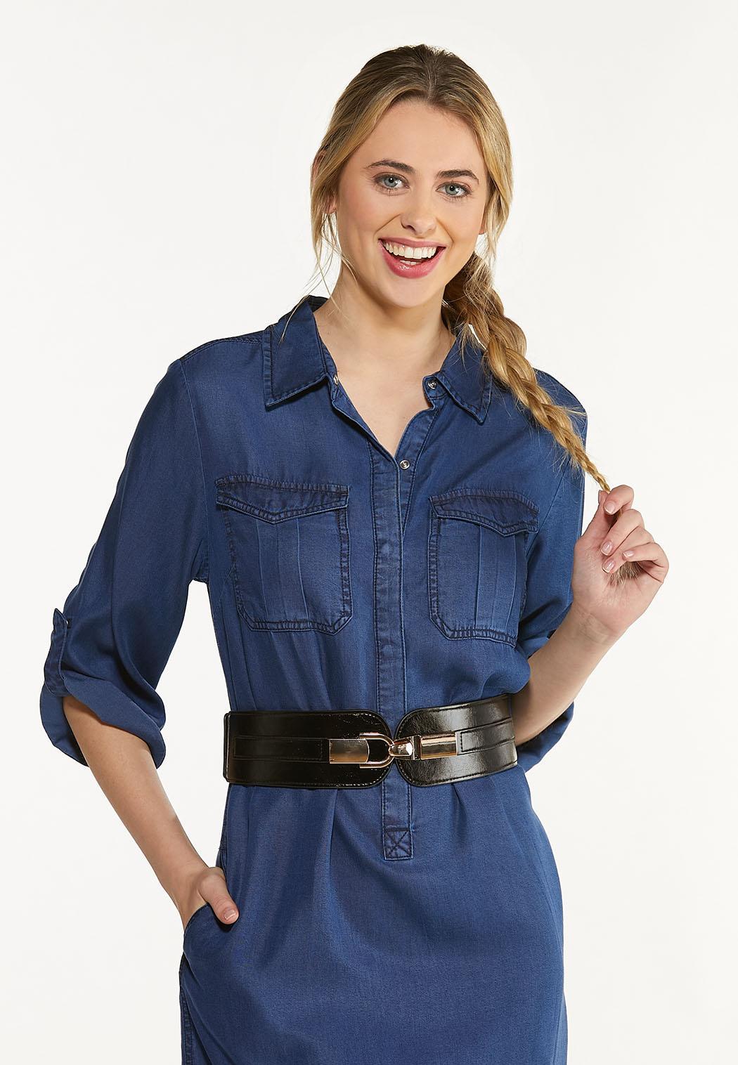Plus Size Stretch Back Hook Belt (Item #44537670)