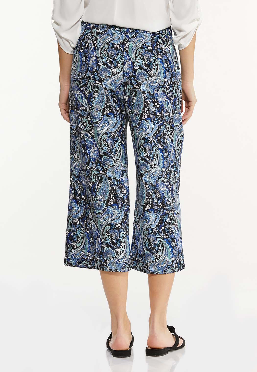 Cropped Paisley Pants (Item #44537840)