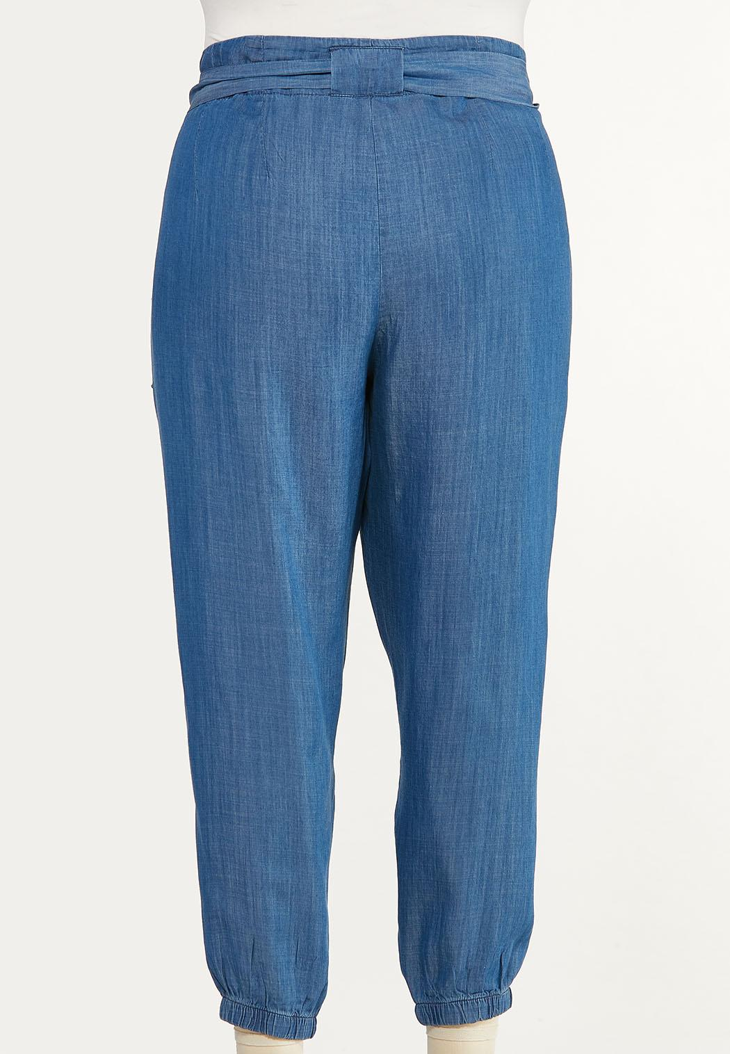 Plus Size Chambray Joggers (Item #44541065)