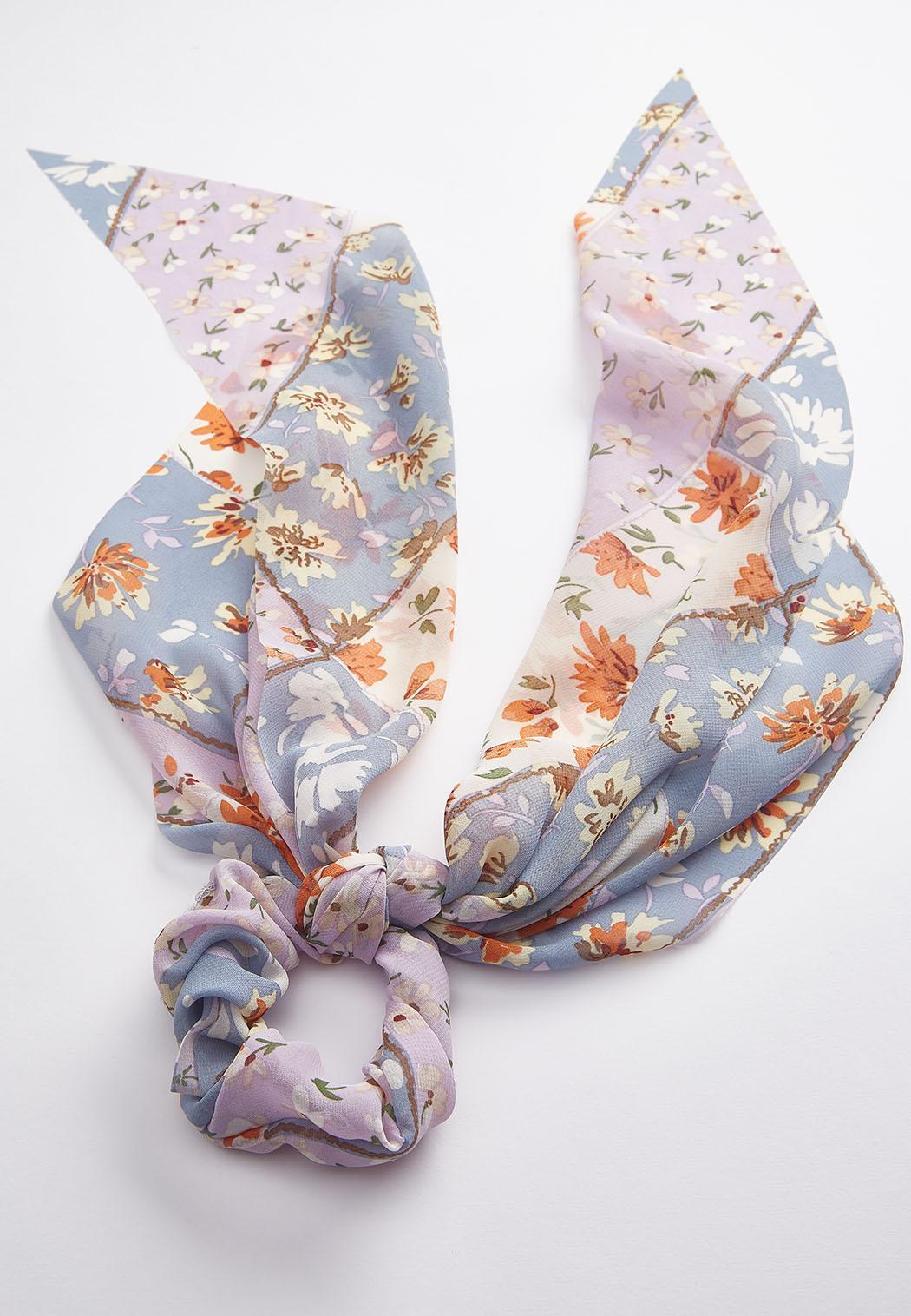 Floral Scarf Ponytail Scrunchie (Item #44541420)