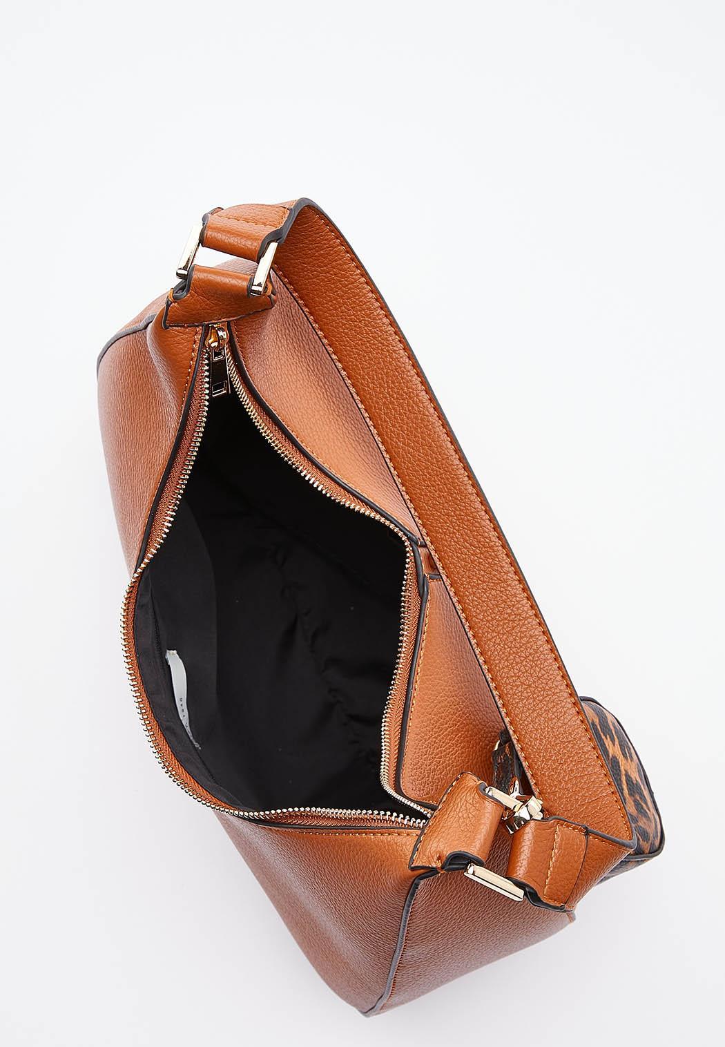 Chain Detail Cognac Handbag (Item #44541814)
