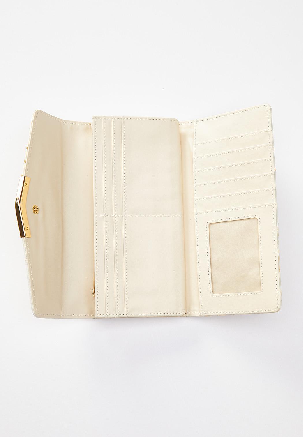 Ivory Ostrich Wallet (Item #44541829)