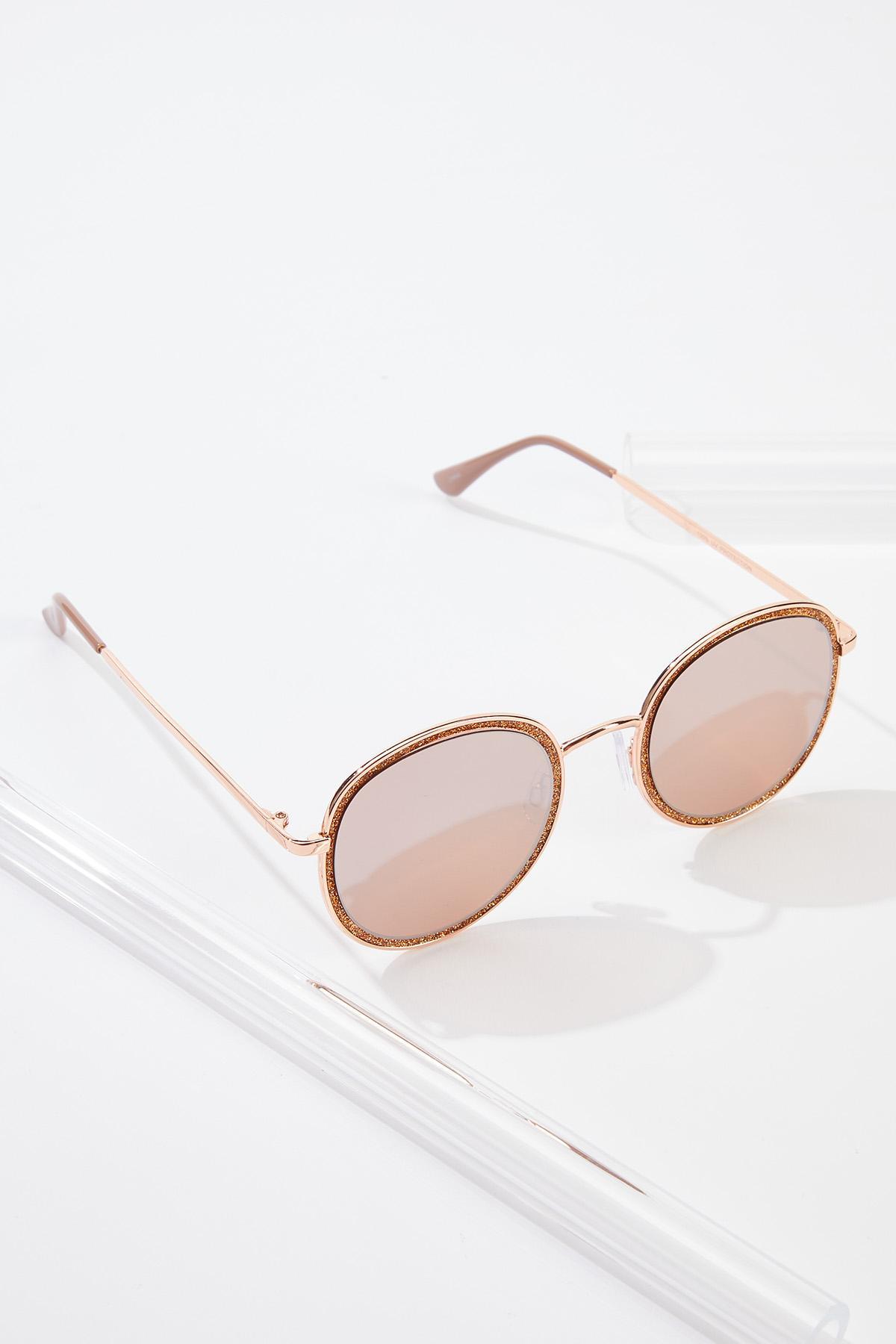 Rose Gold Glittery Sunglasses (Item #44542407)