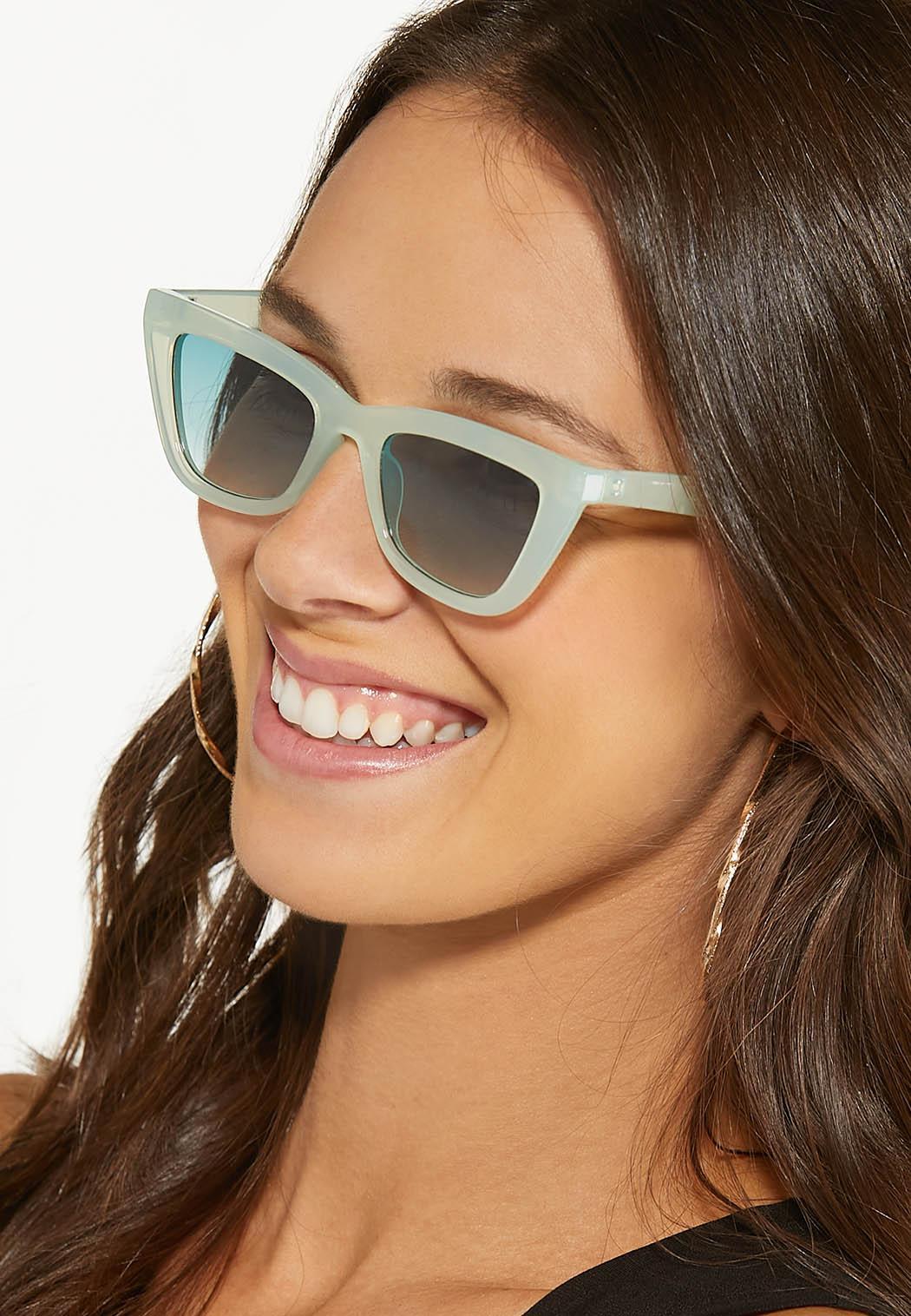 Green Lucite Cat Eye Sunglasses (Item #44542425)