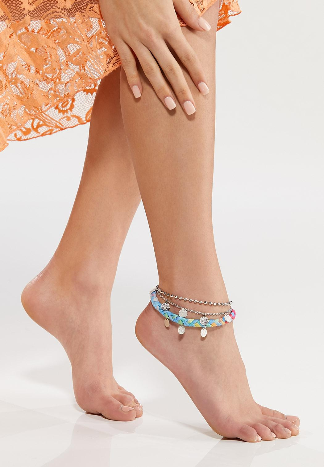 Tye Dye Charm Anklet (Item #44542623)