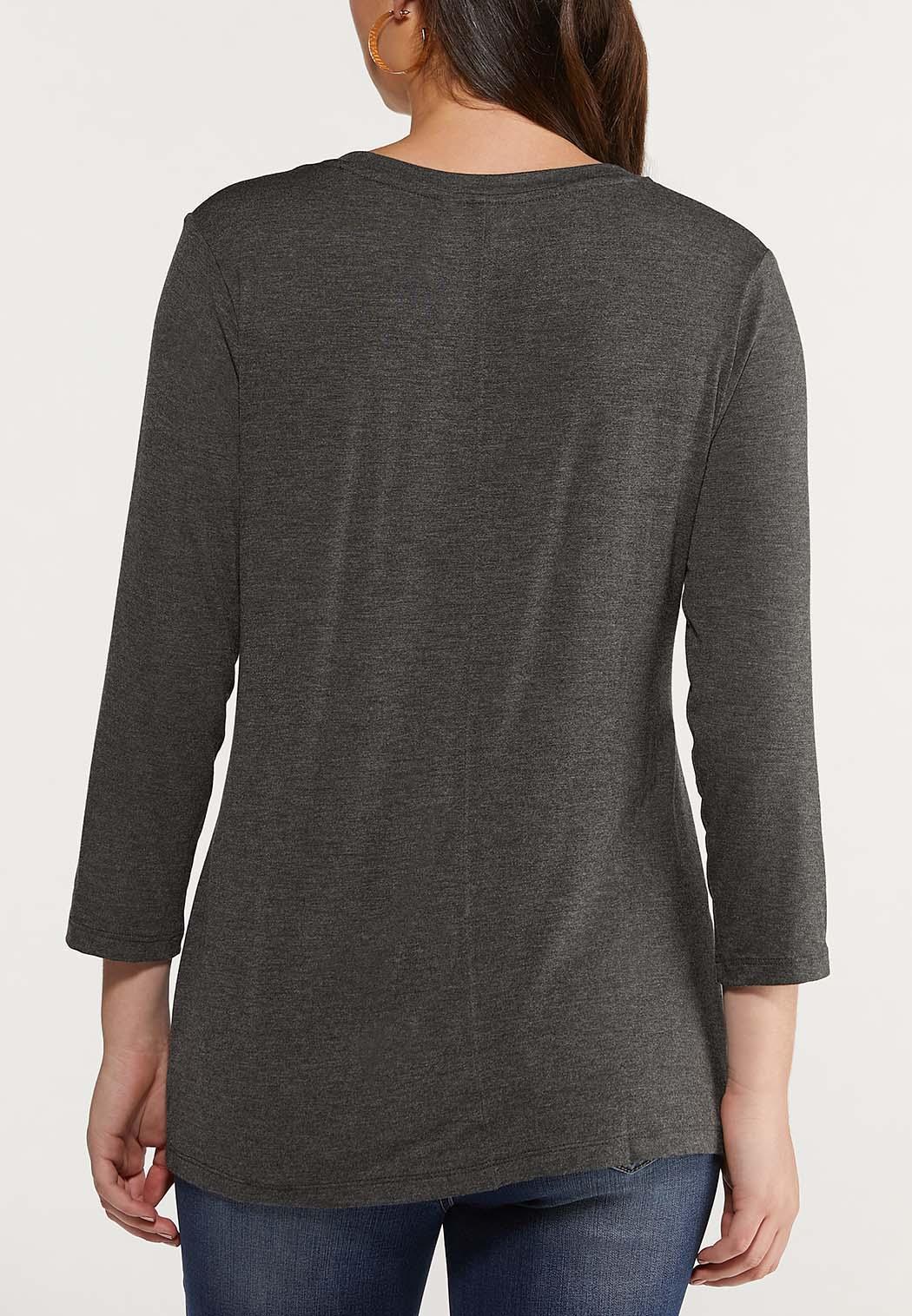 Plus Size Scoop Neck Knit Top (Item #44542702)