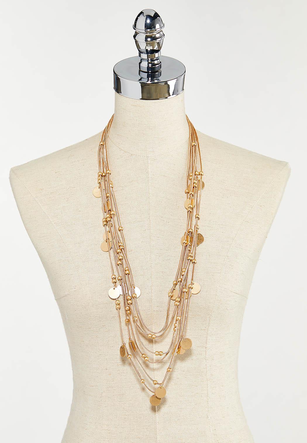 Gold Multi Strand Cord Necklace (Item #44542889)