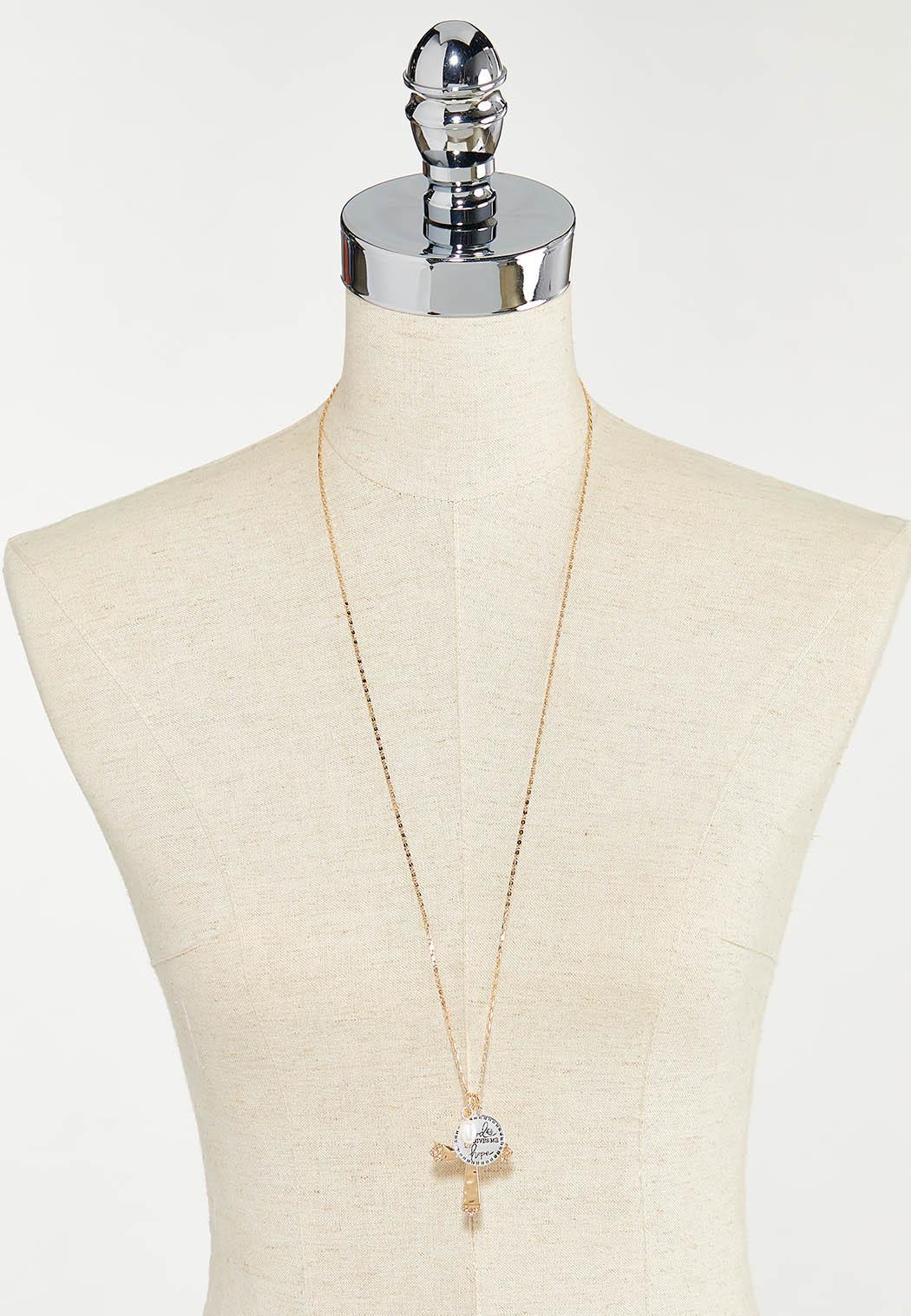 Inspirational Hope Cross Charm Necklace (Item #44542930)