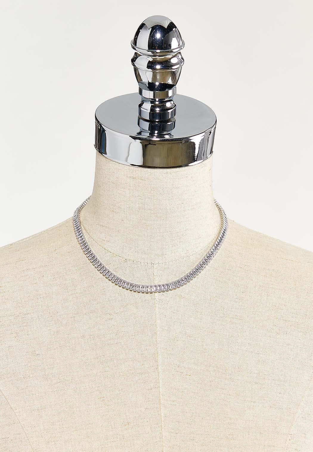 Baguette Stone Choker Necklace (Item #44543015)