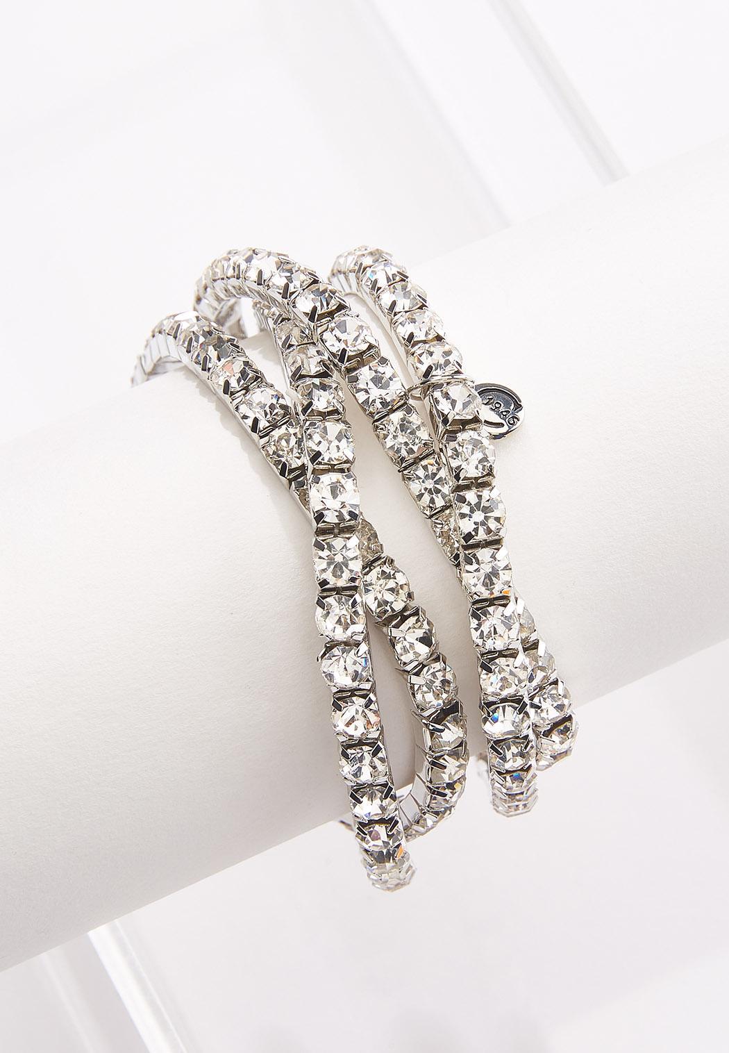 Rhinestone Stretch Bracelet Set (Item #44543087)