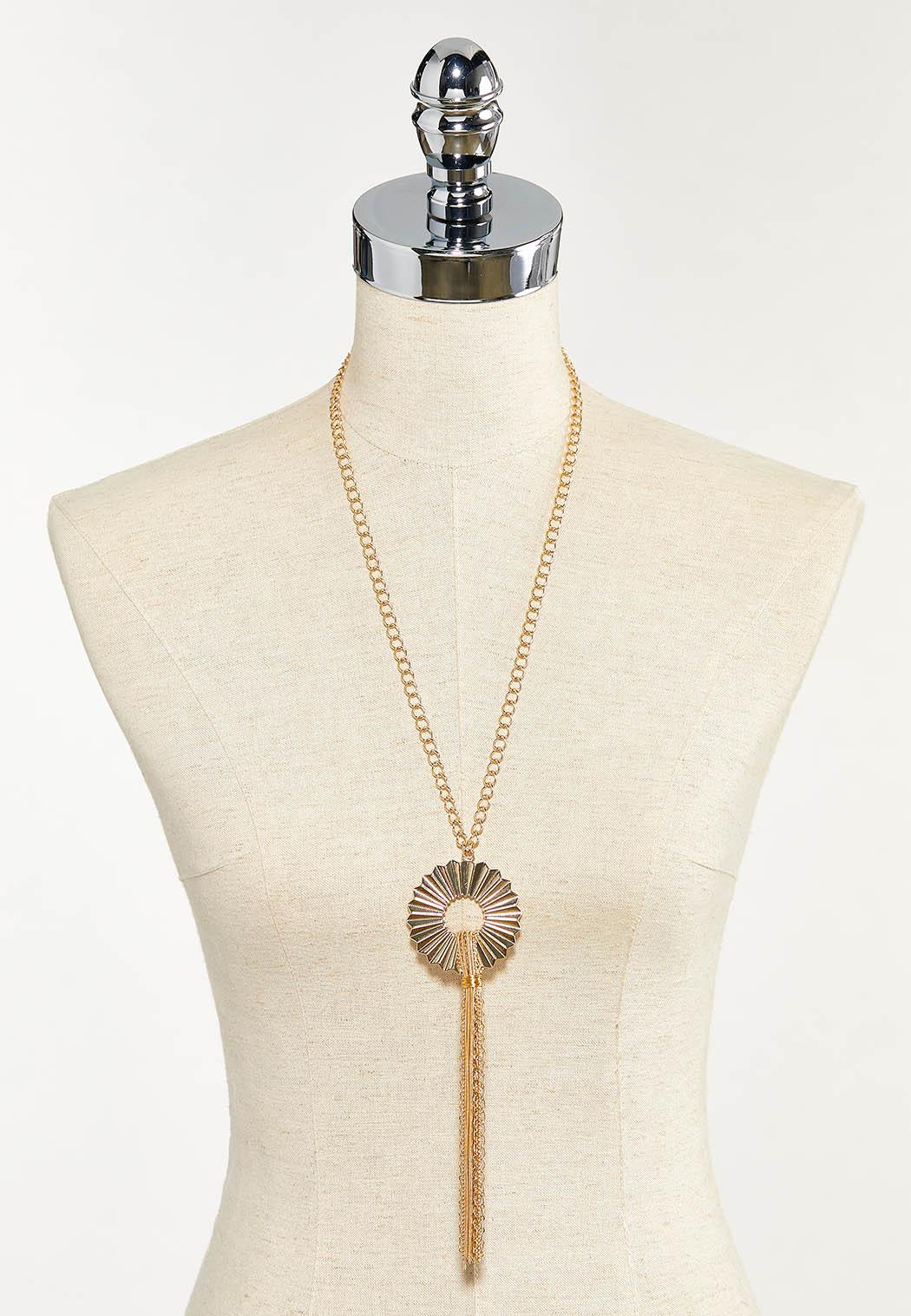 Crinkled Pendant Chain Necklace (Item #44543319)