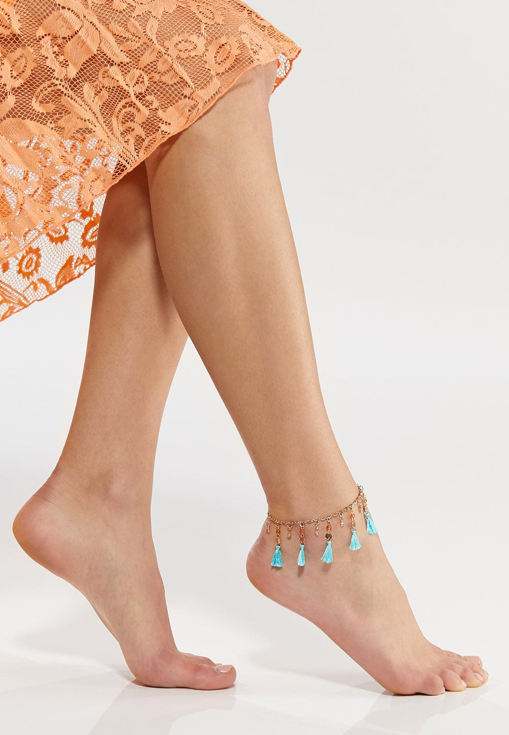 Beaded Tassel Anklet (Item #44543412)