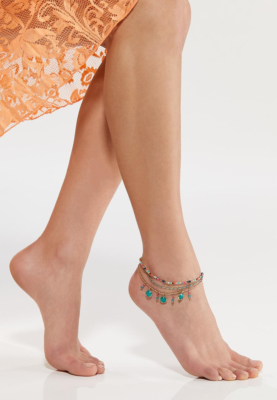 Boho Bead Anklet (Item #44543414)