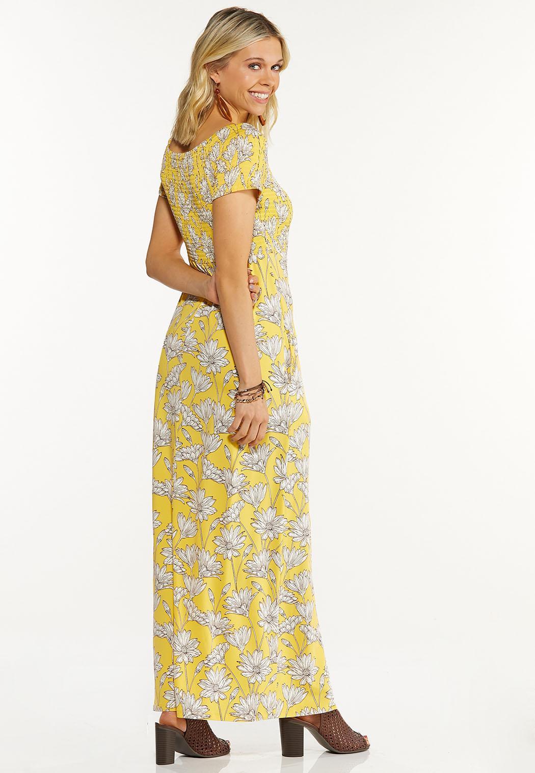 Petite Smocked Daisy Maxi Dress (Item #44543954)