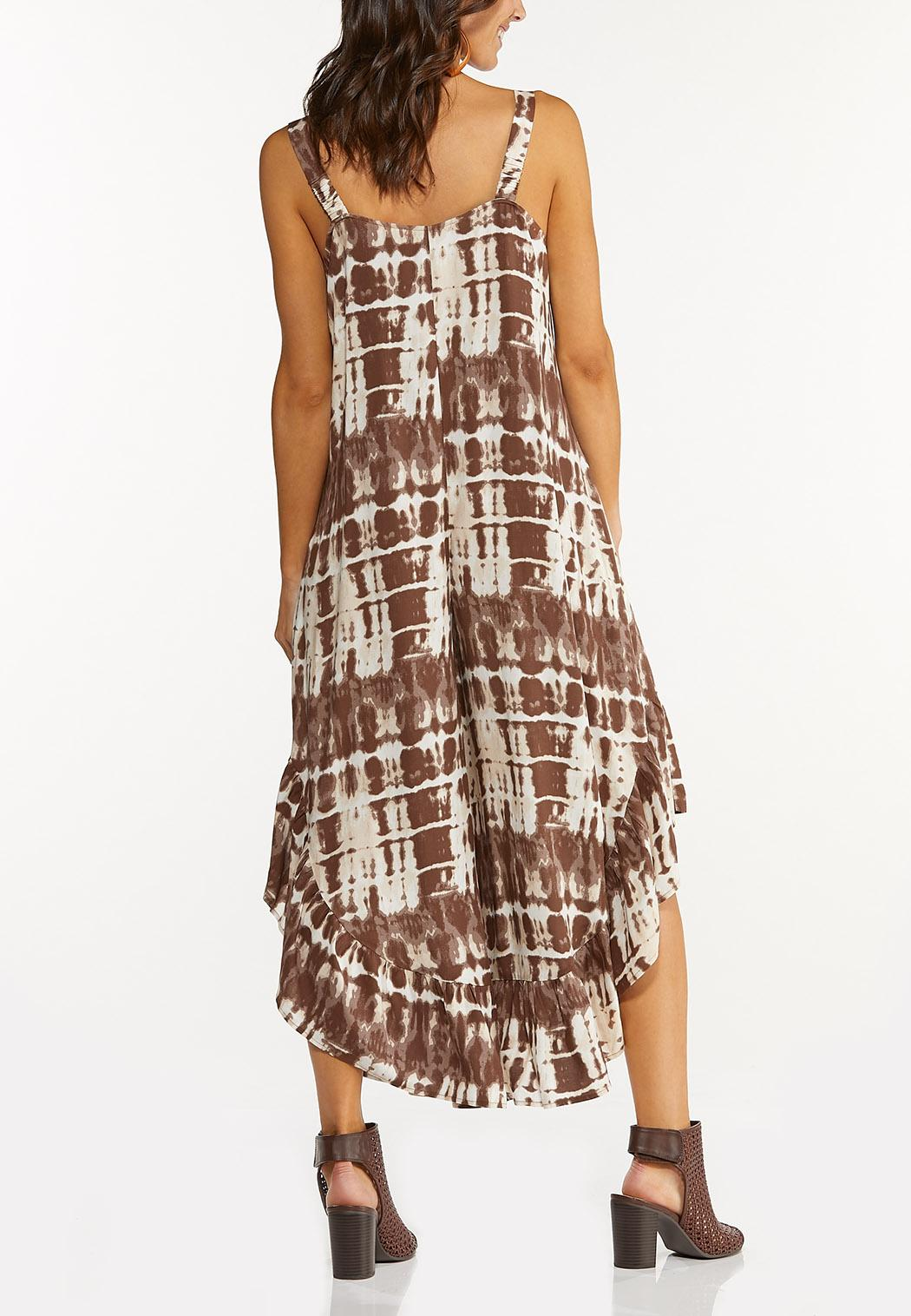Brown Tie Dye Jumpsuit (Item #44544012)