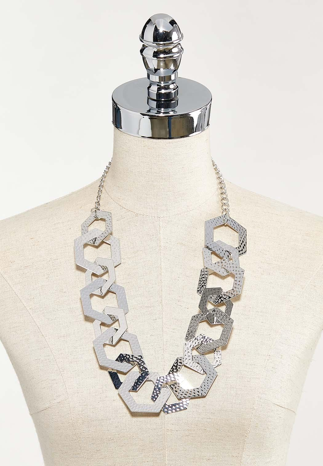 Hammered Hexagon Link Necklace (Item #44544302)