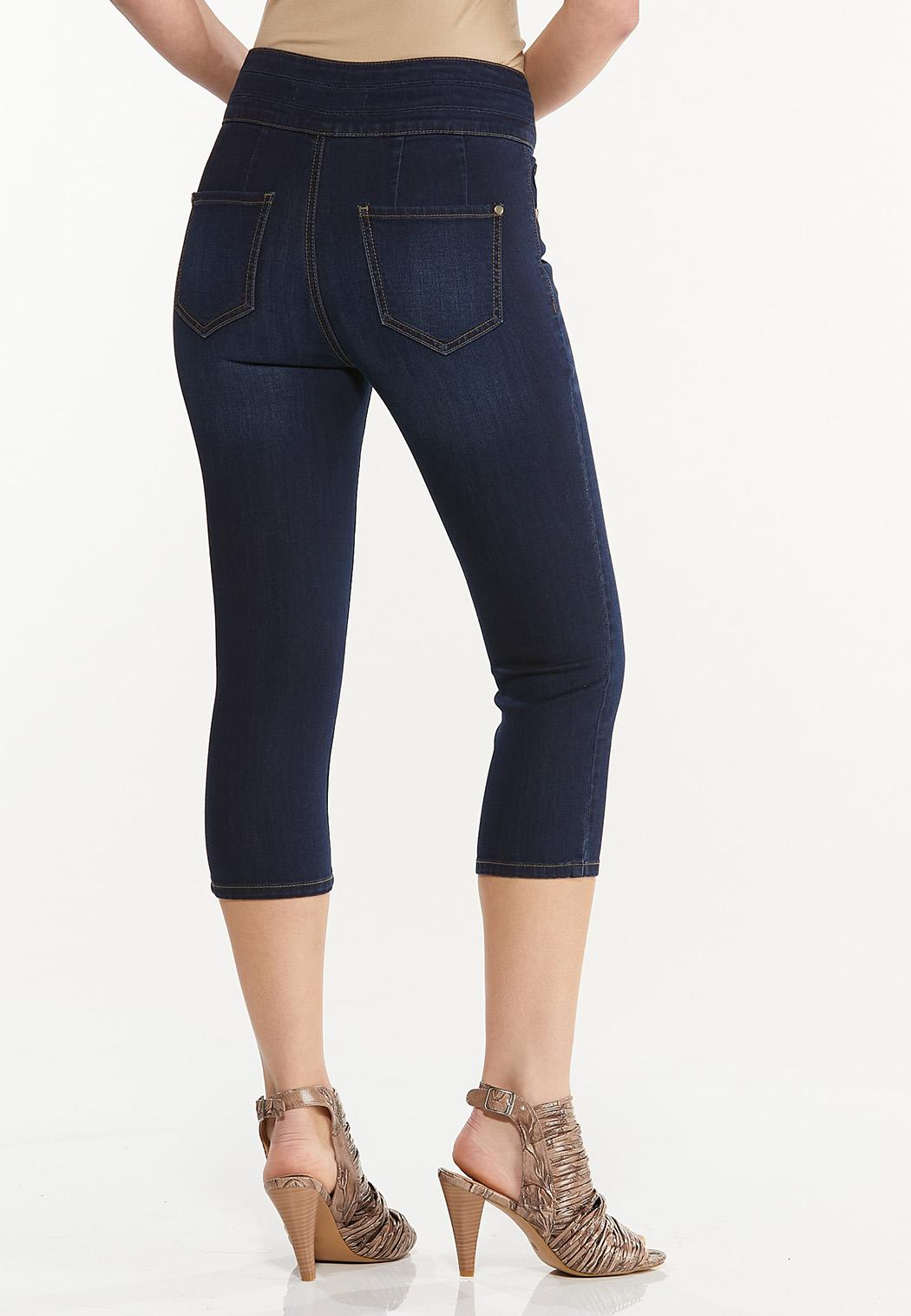 Cropped Triple Button Jeggings (Item #44544685)