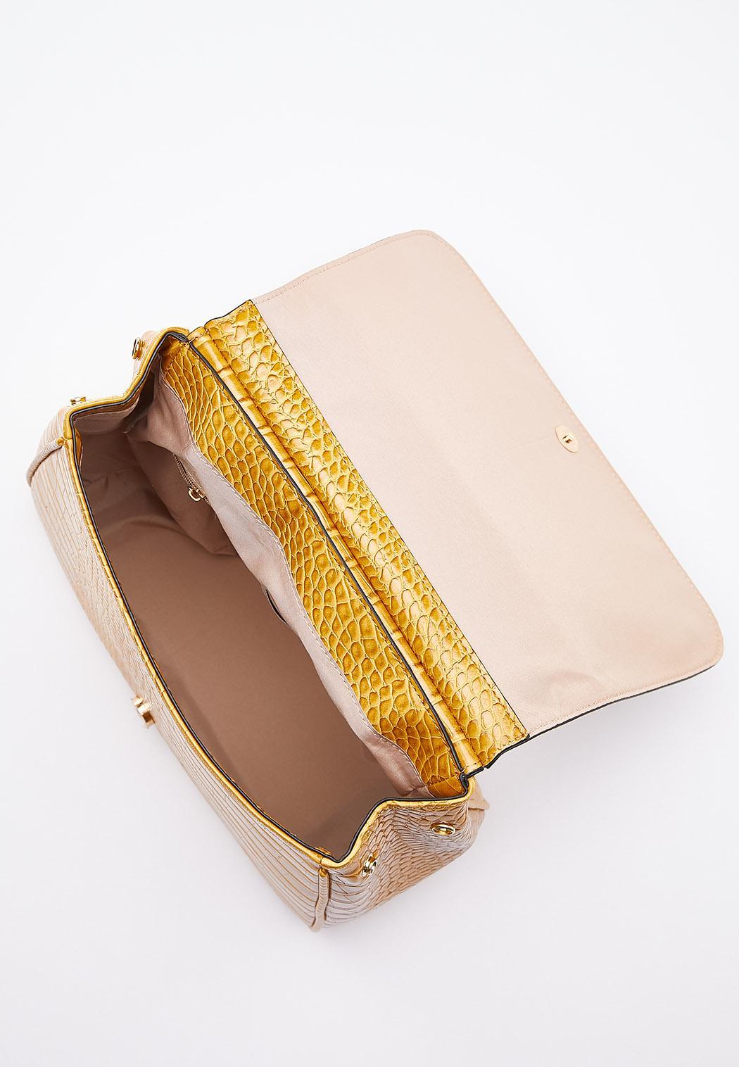Golden Croc Satchel (Item #44545435)