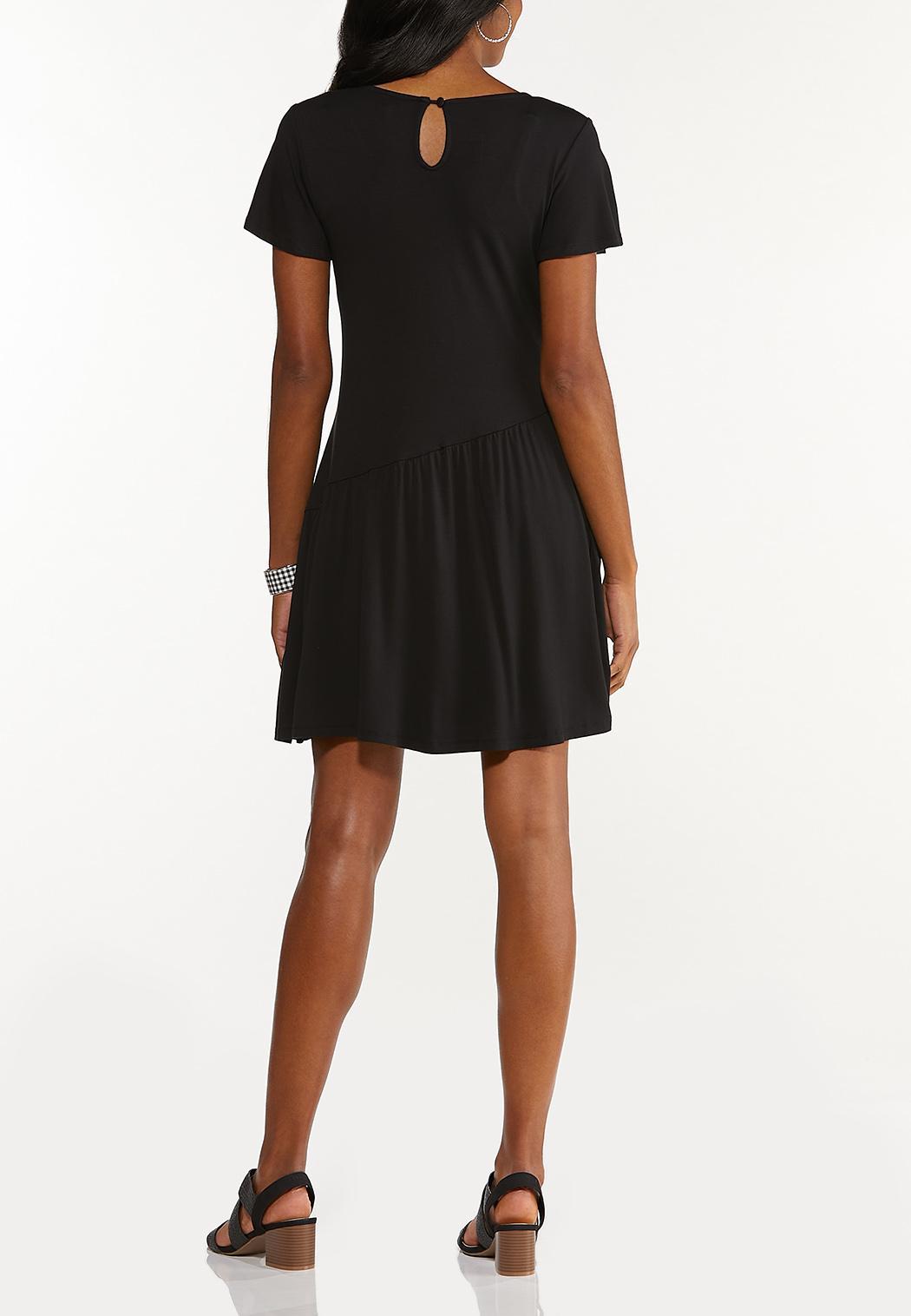 Plus Size Curved Seam Swing Dress (Item #44545588)