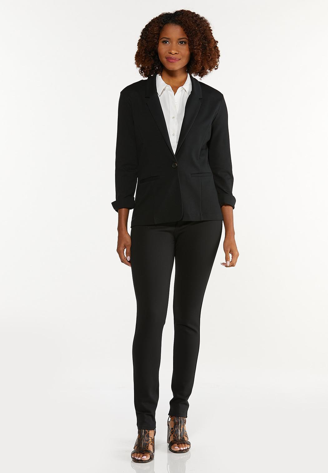 Skinny 5-Pocket Ponte Pants (Item #44546479)