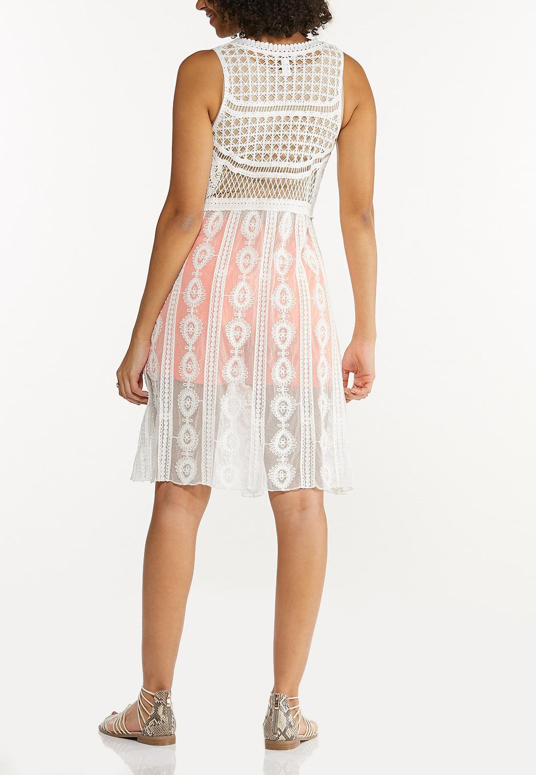 White Crochet Vest (Item #44546492)