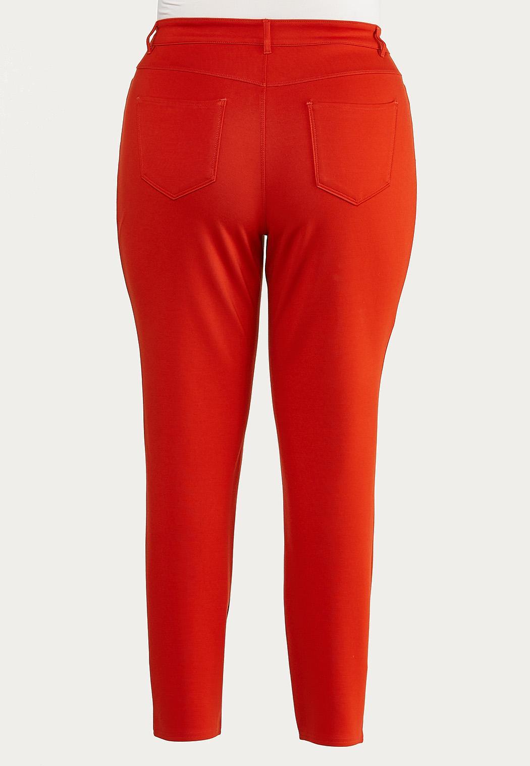 Plus Size Skinny 5-Pocket Ponte Pants (Item #44546590)