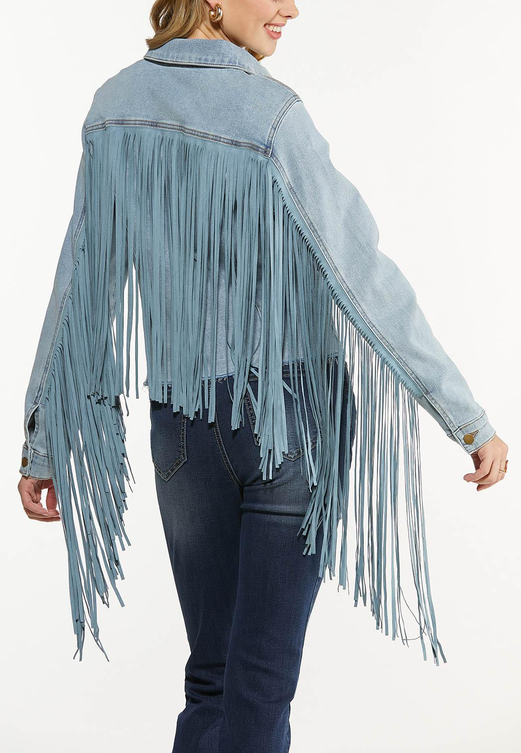 Fringe Denim Jacket (Item #44546876)