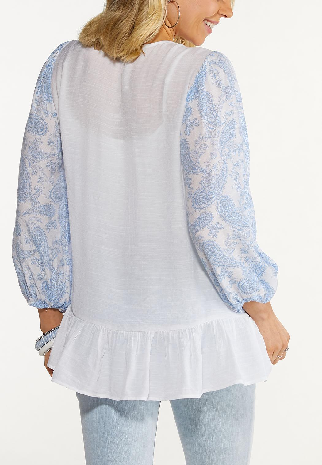 Paisley Sleeve Poet Top (Item #44547464)