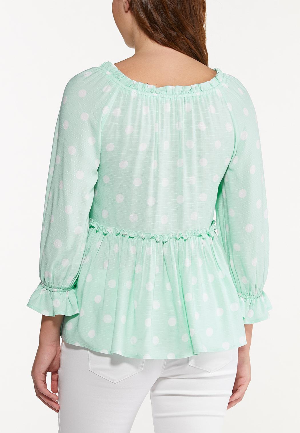 Mint Polka Dot Top (Item #44547525)