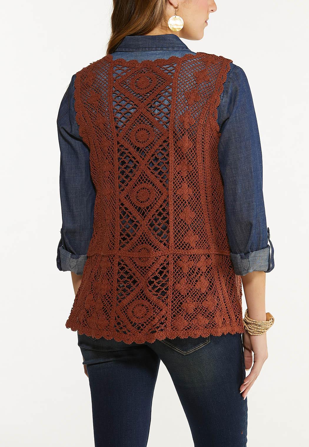 Brown Crochet Vest (Item #44548373)