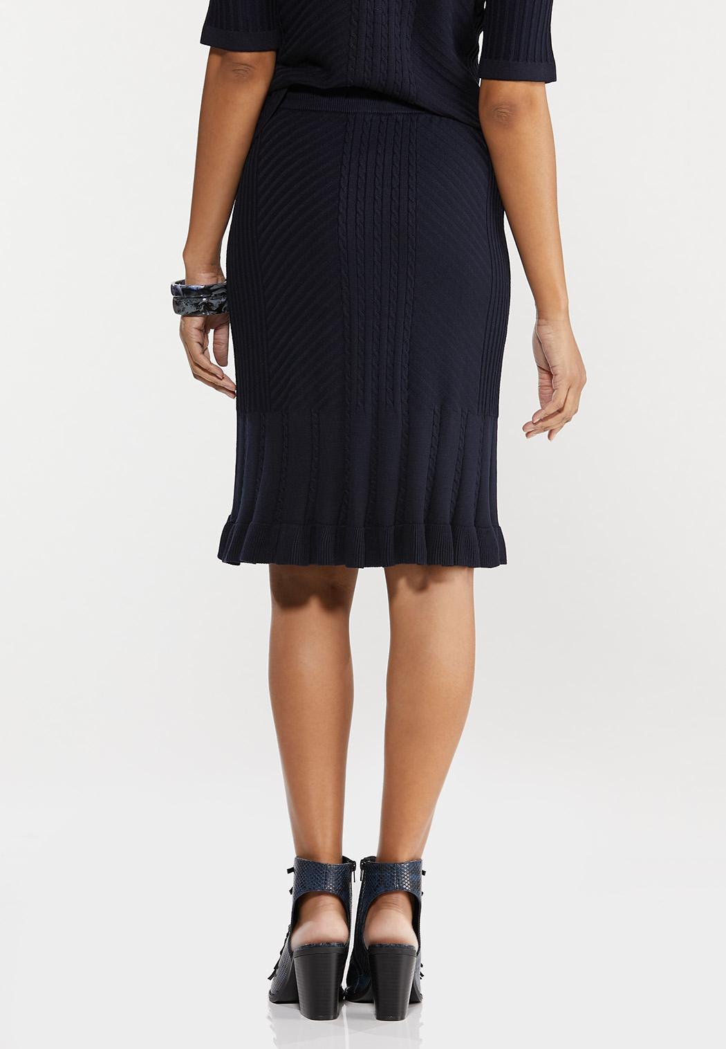 Ruffle Trim Sweater Skirt (Item #44548598)