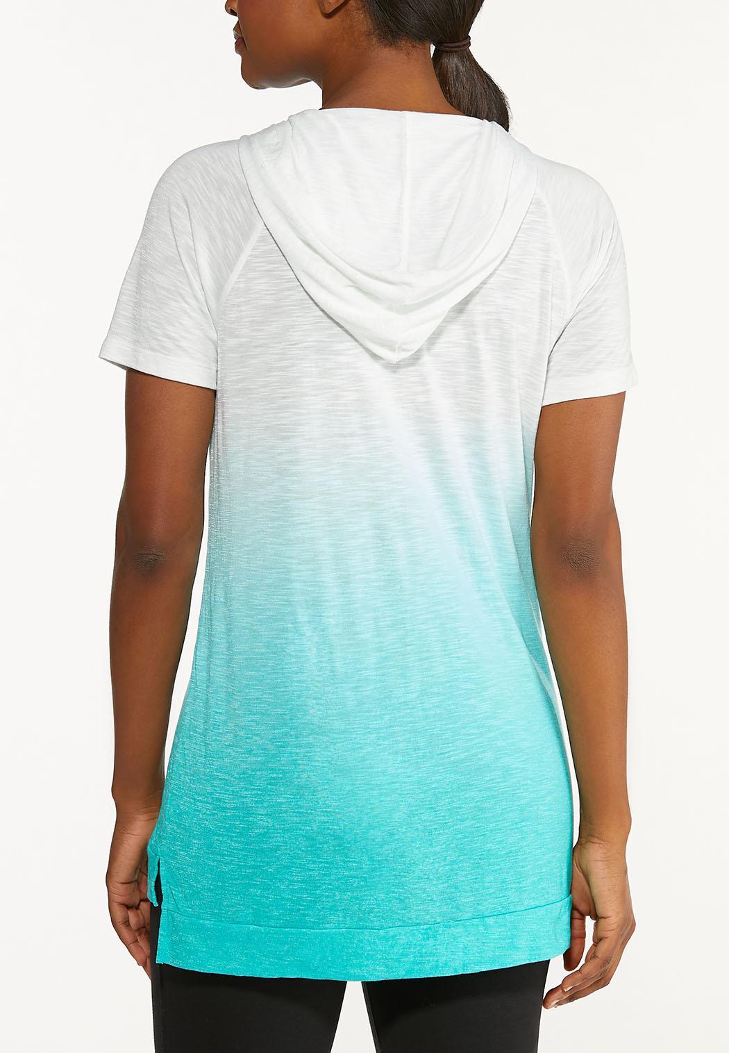 Plus Size Lace Up Ombre Top (Item #44548649)