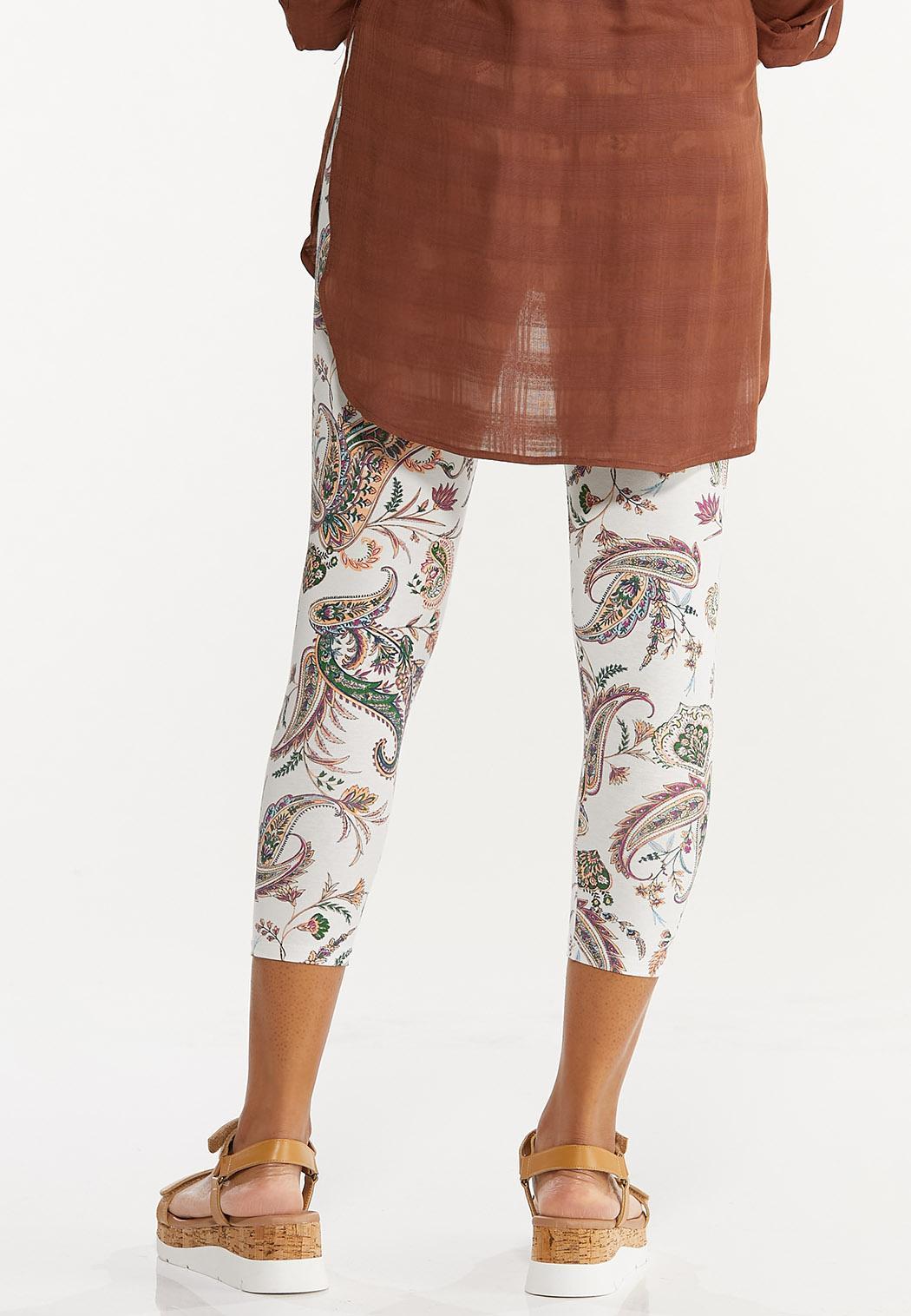 Cropped Paisley Leggings (Item #44548829)