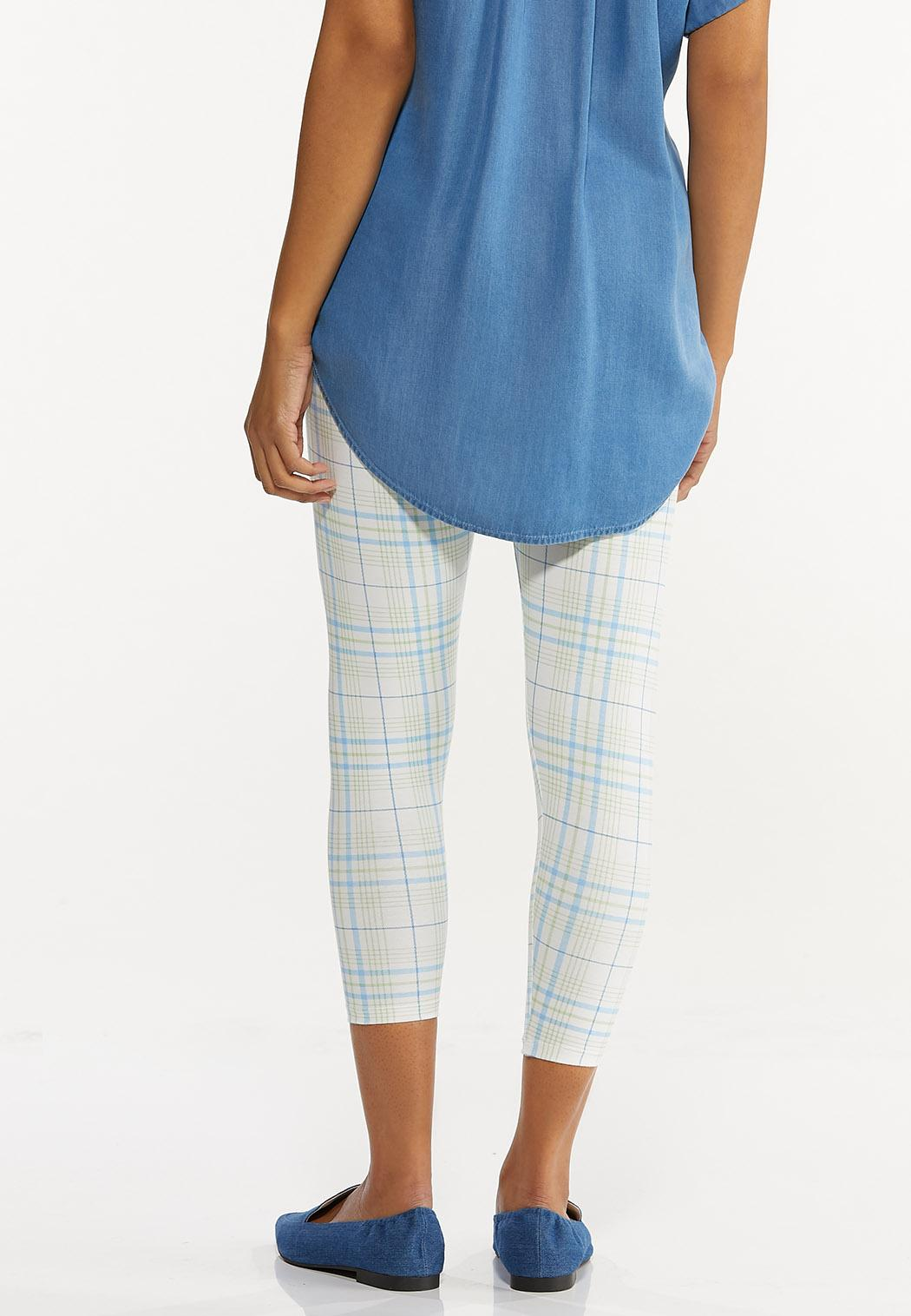 Cropped Plaid Leggings (Item #44548842)