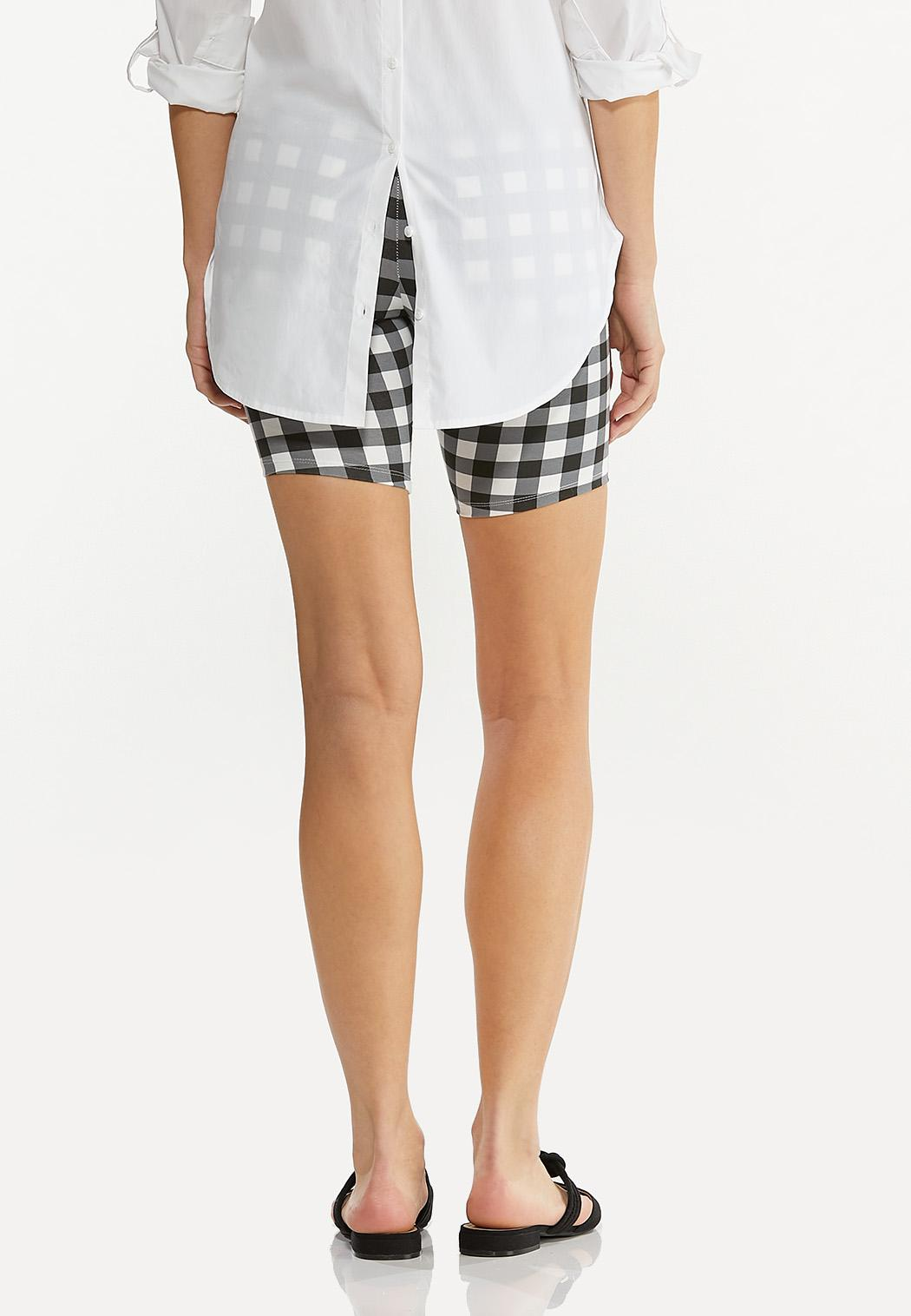 Gingham Biker Shorts (Item #44548875)
