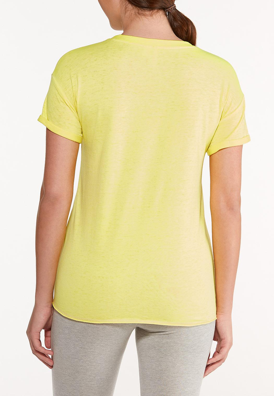 Plus Size Empowered Knotted Tee (Item #44549258)