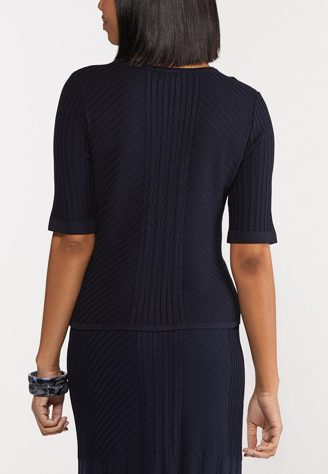 Plus Size Navy Sweater (Item #44549941)