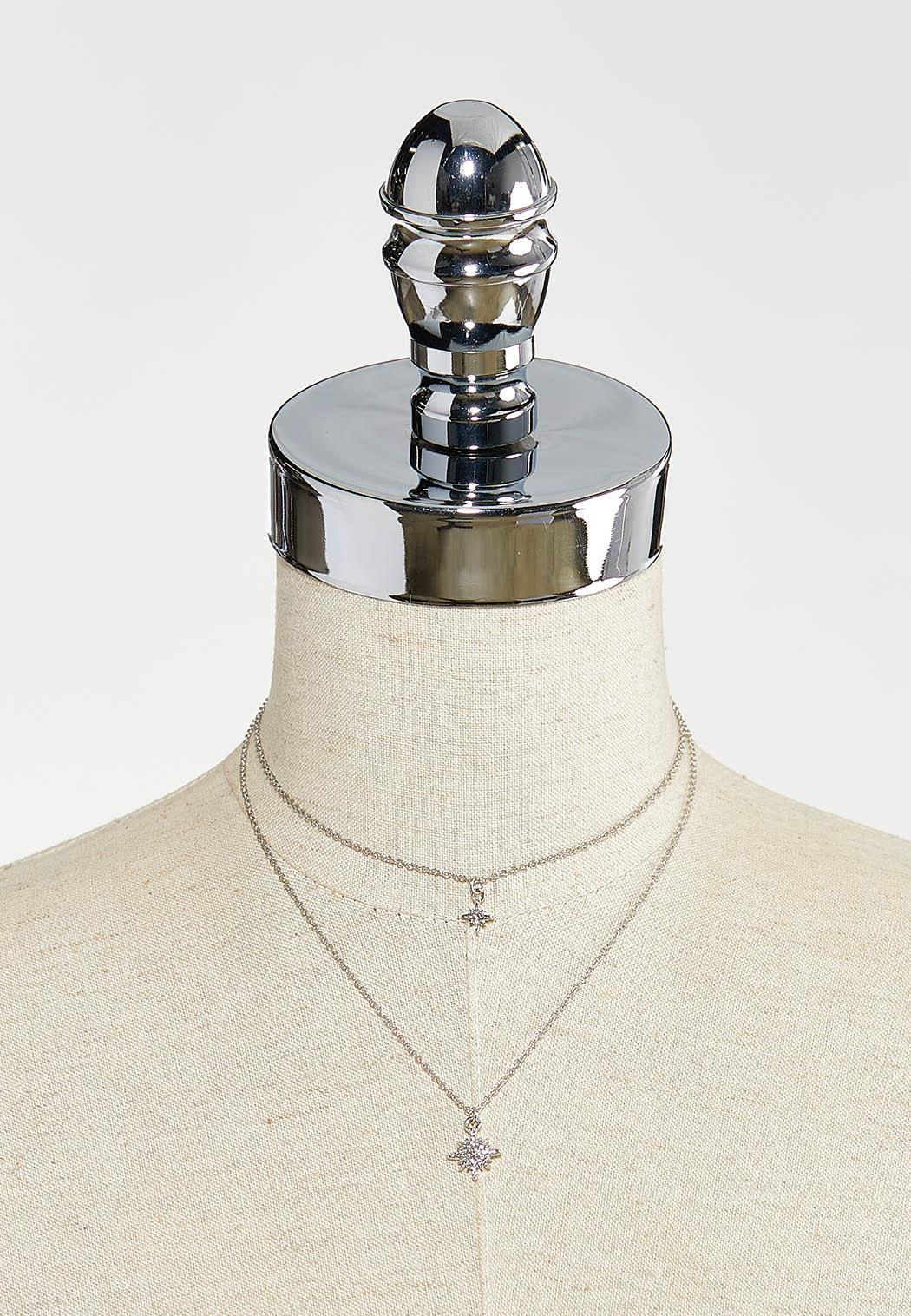 Layered Burst Charm Necklace (Item #44550248)
