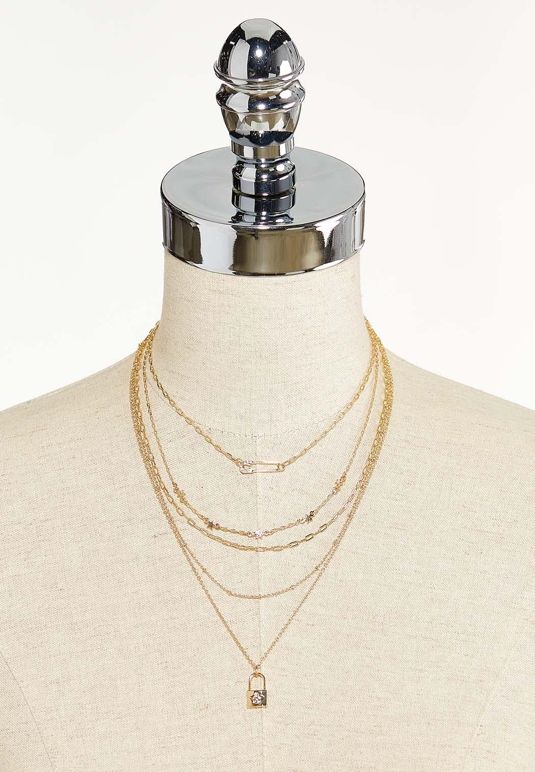 Lock Charm Layered Necklace (Item #44550271)