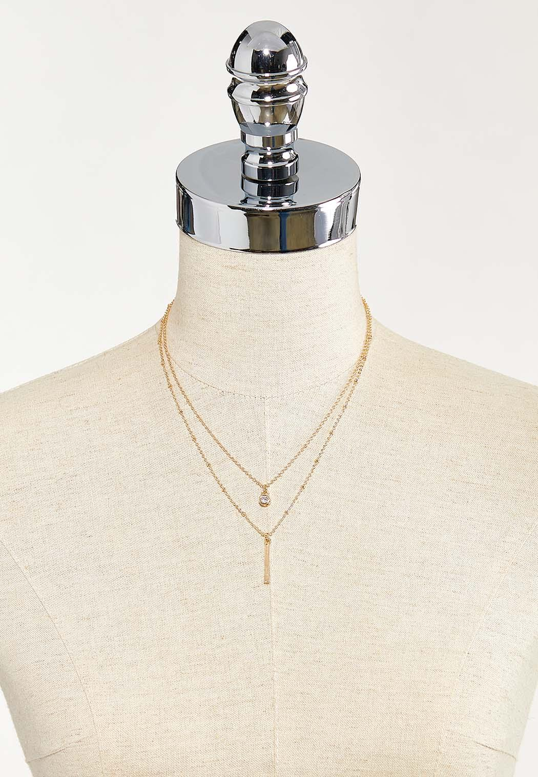 Delicate Layered Bar Necklace (Item #44550381)