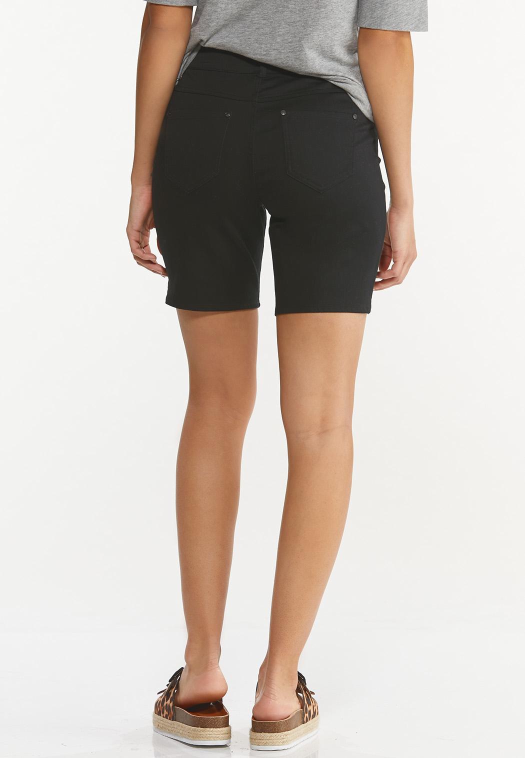 Black Denim Shorts (Item #44550579)