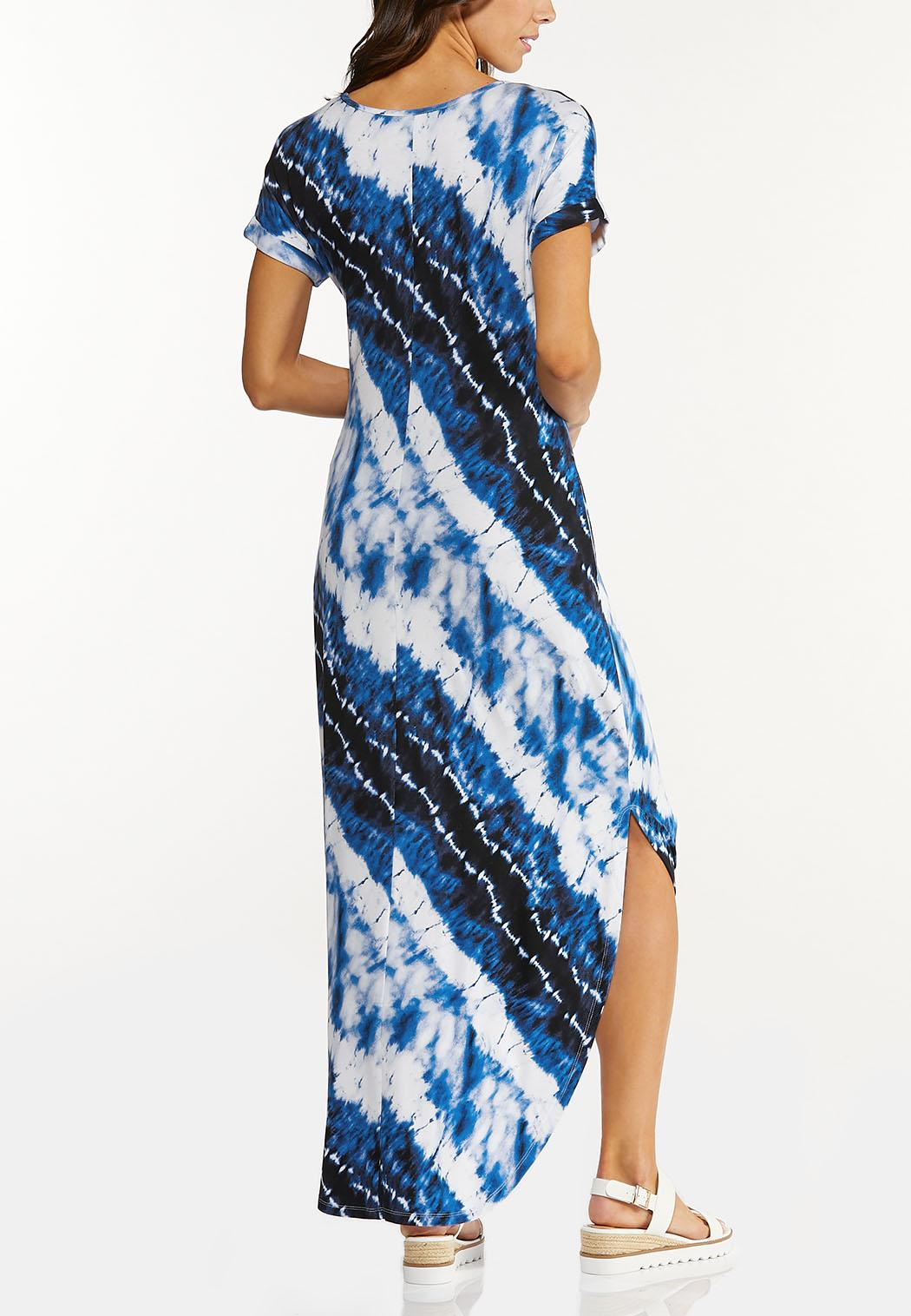 Knotted Tie Dye Maxi Dress (Item #44551173)