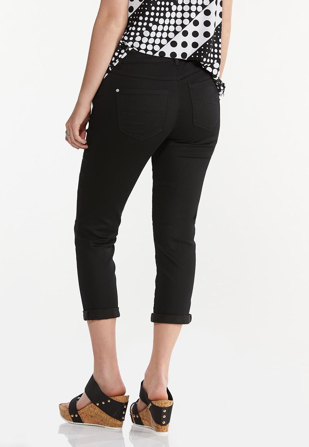 Cropped Black Skinny Jeans (Item #44551226)